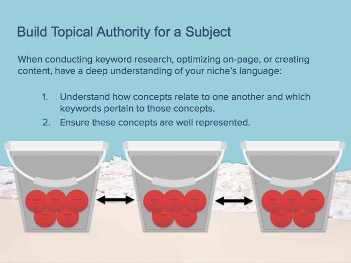 seo topical bucket visualization
