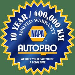 Maintenance warranty badge from NAPA AUTOPRO