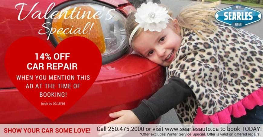 Get 14% off your car repair at Searle's