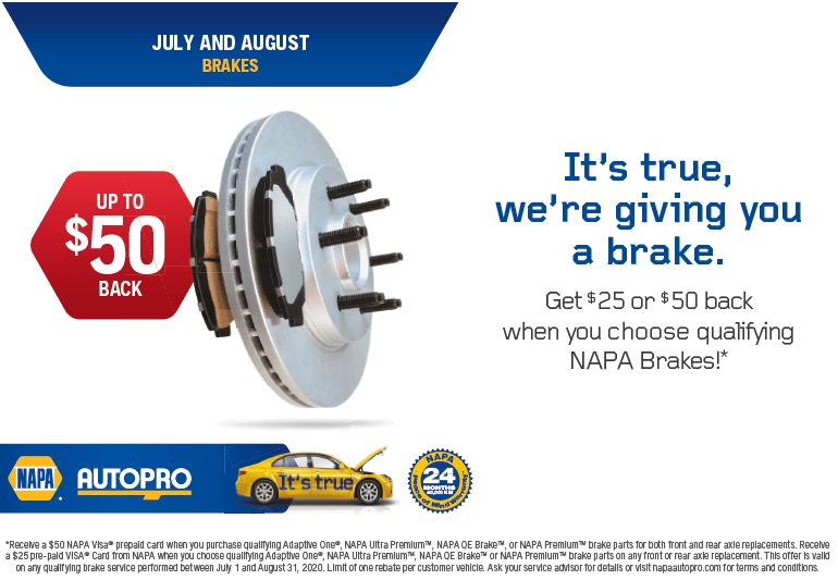 Summer 2020 Napa Brake Promotion
