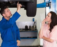 Car Mechanic - Explaining to Customer
