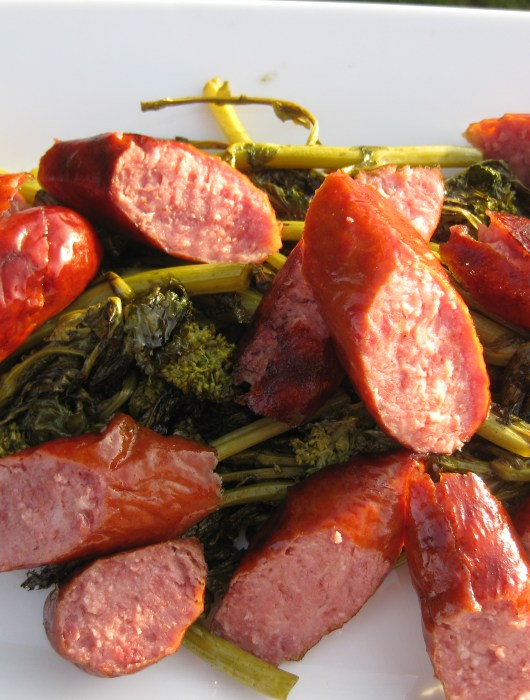 Kielbasa and Broccoli Rabe