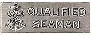 Qualified Seaman award metal pin