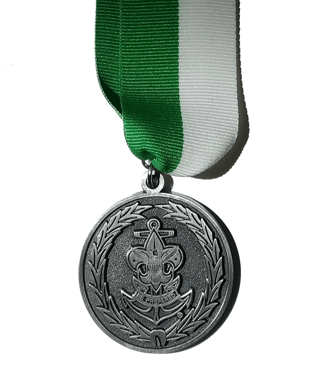 Sea Scout Leadership Award (medal hanging from a green and white ribbon)