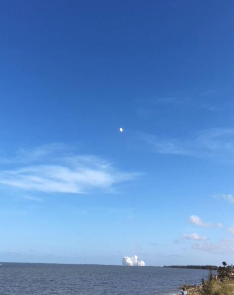 liftoff of rocket