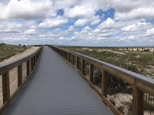 new boardwalk at Smyrna Dunes Park
