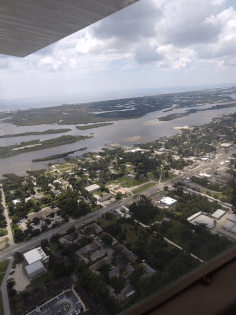 aerial view of Edgewater, Florida