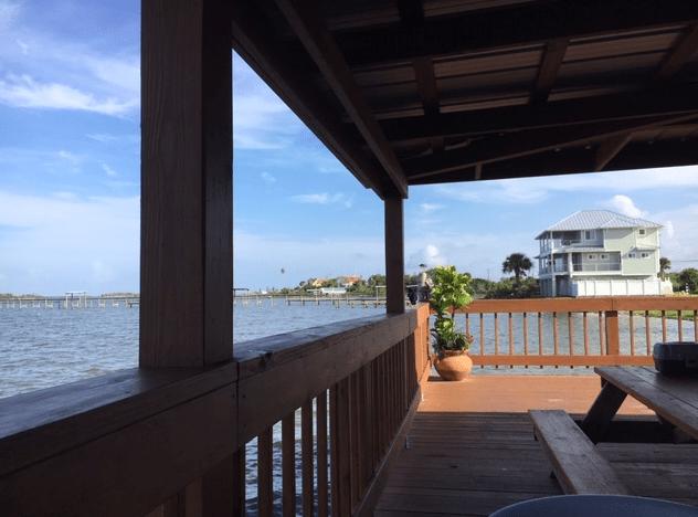 new deck at Goodrich's restaurant