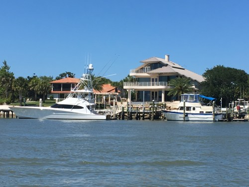Nice homes and big boats along the Indian River