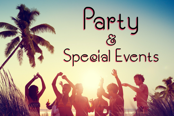 party and special events stationery beach theme