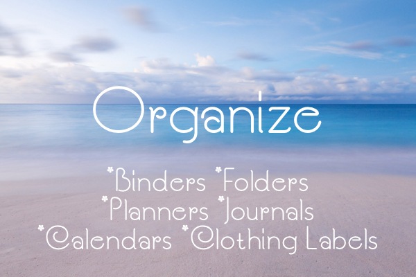 organize home custom folders, planners, binders and journals