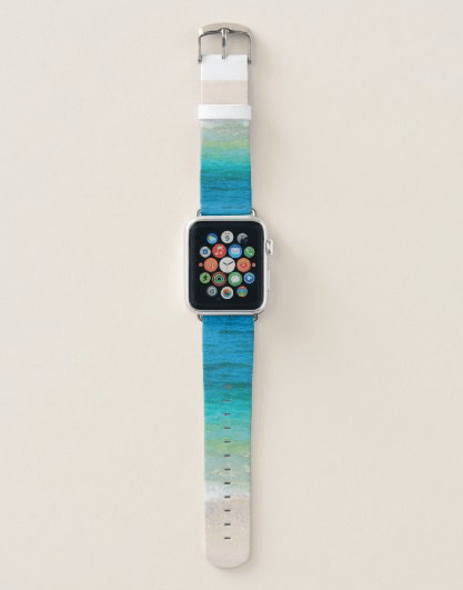 Sea water Apple watch band tropical sea ocean turquoise blue