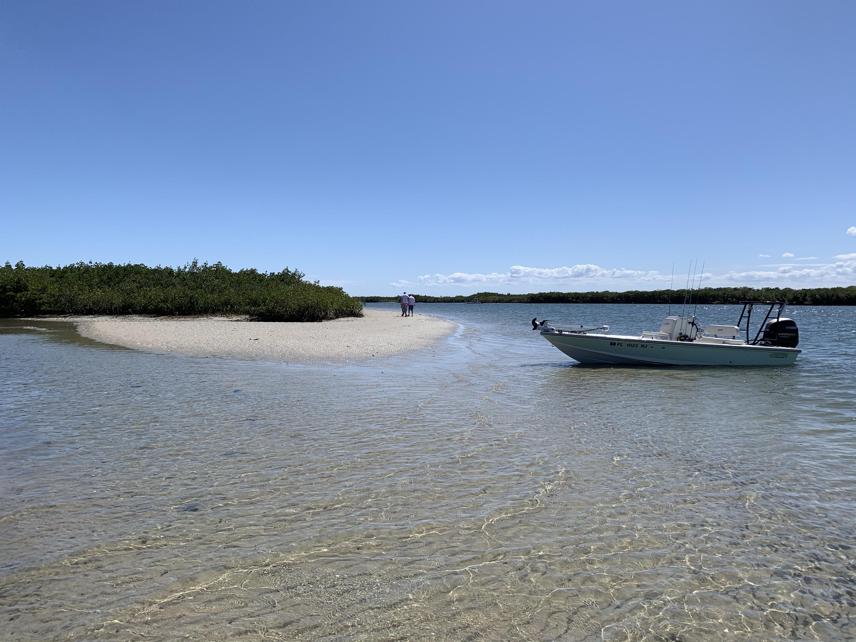 boat at backwater island