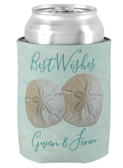 Sand dollars wedding party can holders to customize