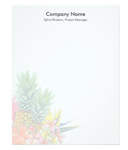 Blank flyer tropical business name text template