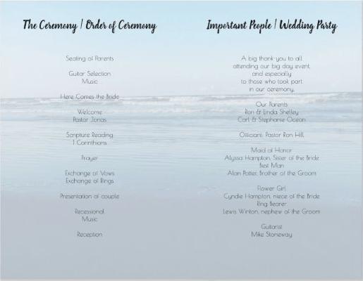Beach waves program template