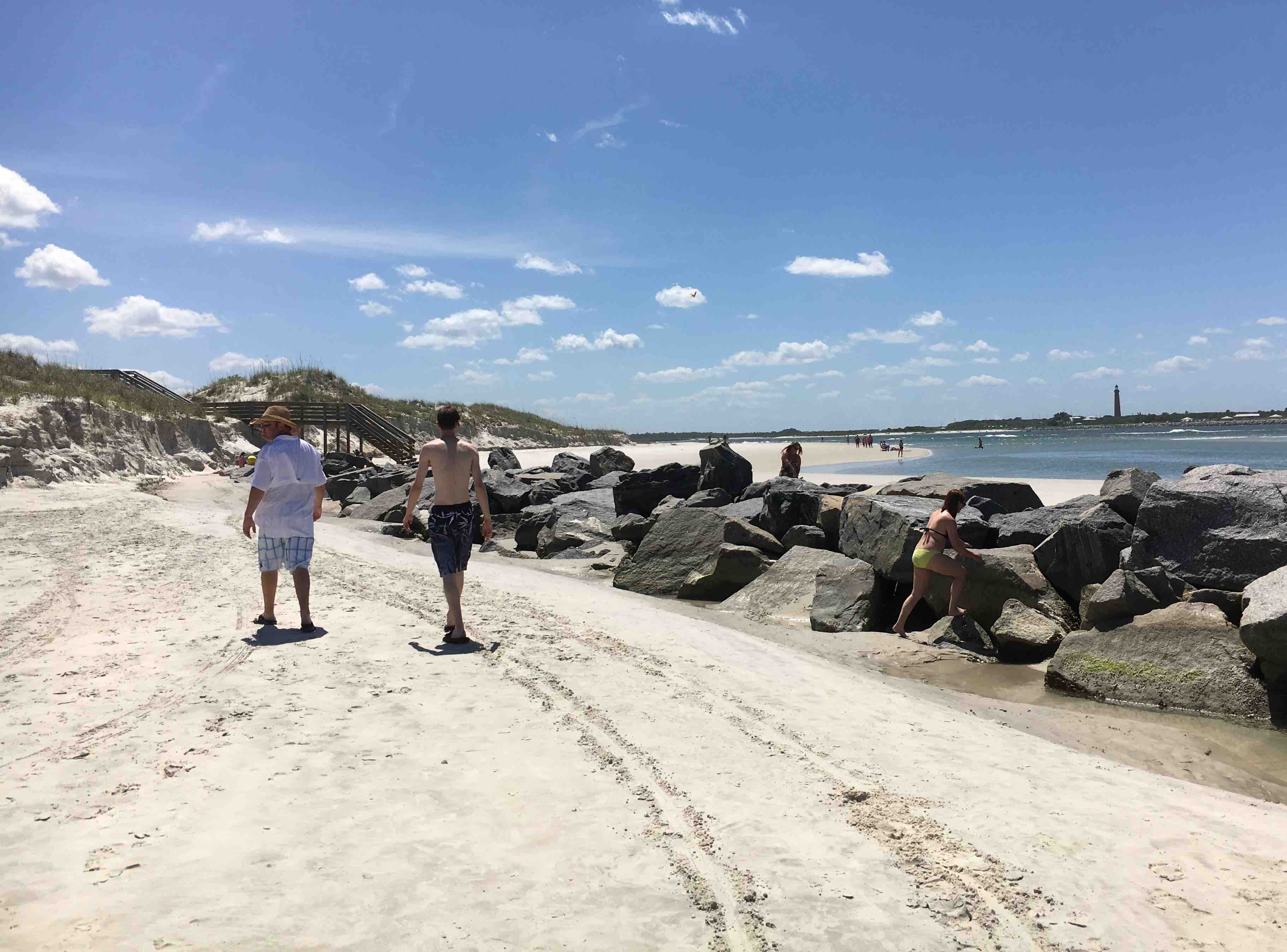 Ponce Inlet rock jetty