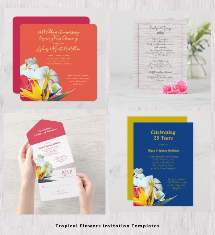 plumeria wedding invitation templates