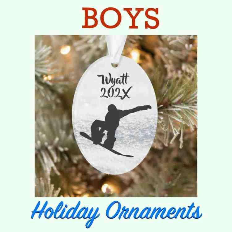 custom ornaments for boys