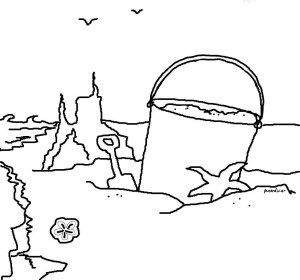 At The Shore Coloring Page Seashells By Millhill