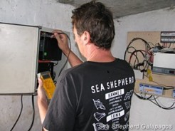 Marcel performing the final check on the new repeater