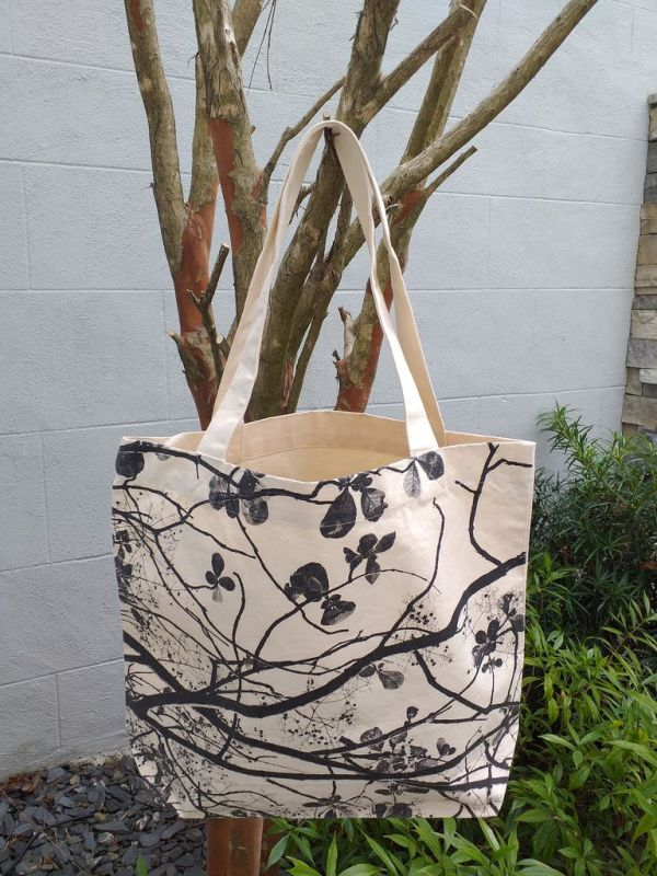 AFT855 Classic Tote Natural Photos Silk Screen