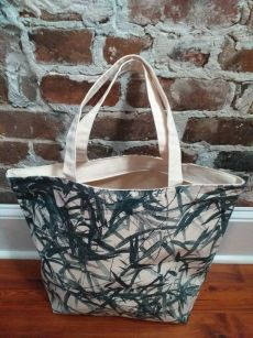 ALT824B Original Silk Screen Photos Large Zipper Tote
