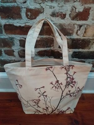 ALT857R Original Silk Screen Photos Large Zipper Tote