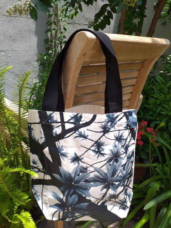 ATT634B Light Canvas Silk Screen Tote Nylon Strap