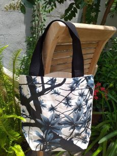 ATT634B Light Canvas Silk Screen Tote Nylon Strap