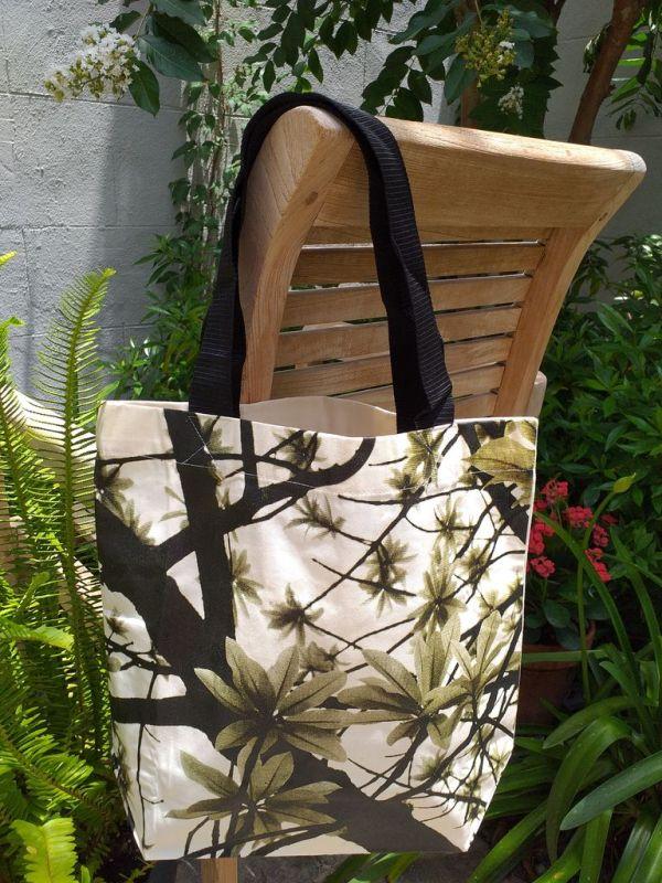 ATT634G Light Canvas Silk Screen Tote Nylon Strap