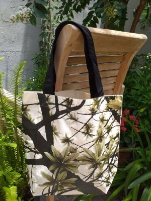 ATT634G Light Canvas Silk Screen Tote Nylon Strap