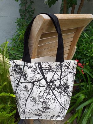 ATT818 Light Canvas Silk Screen Tote Nylon Strap