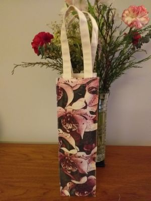 AWT902R Original Silk Screen Gift Wine Bottle Tote