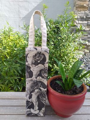 AWT902 Wine Tote Natural Photos Silk Screen