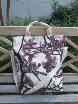 AXT810R Cotton Canvas Silk Screen Cross Body Tote