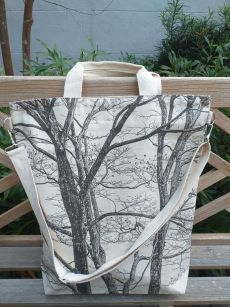 AXT900 Cotton Canvas Silk Screen Cross Body Tote