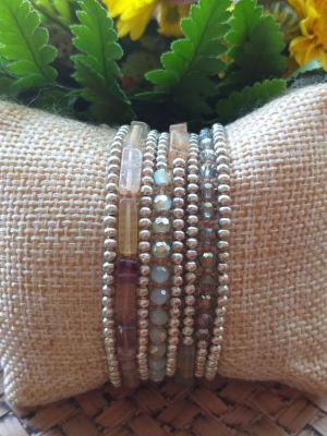 HRB976 Thailand Handmade SemiPrecious Stone Metal Bracelet