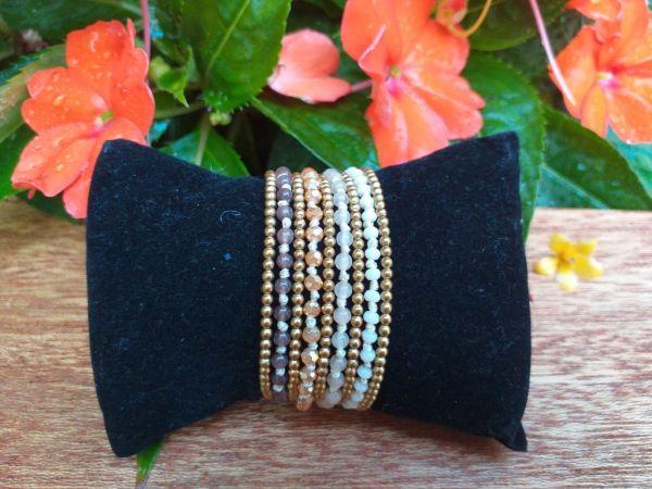 HWB960B Thailand Unique Stone Metal Bead Bracelet
