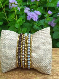HWB966 Thailand Unique Stone Metal Bead Bracelet