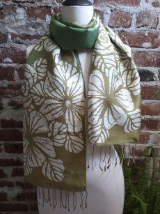 KED683a 100 Silk Hand Batik Shawl Scarf
