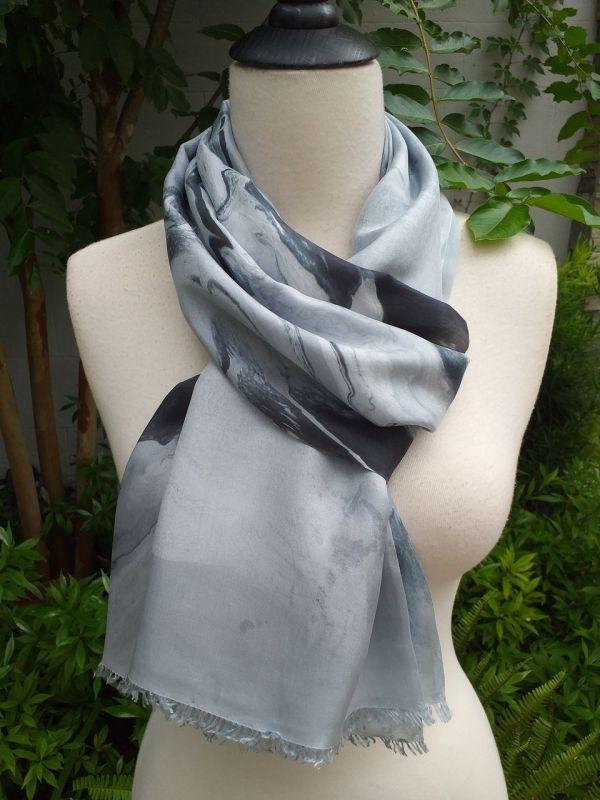 KOD654b 100 Silk Hand Dye Shawl Scarf