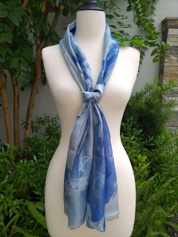 KOD658c 100 Silk Hand Dye Shawl Scarf