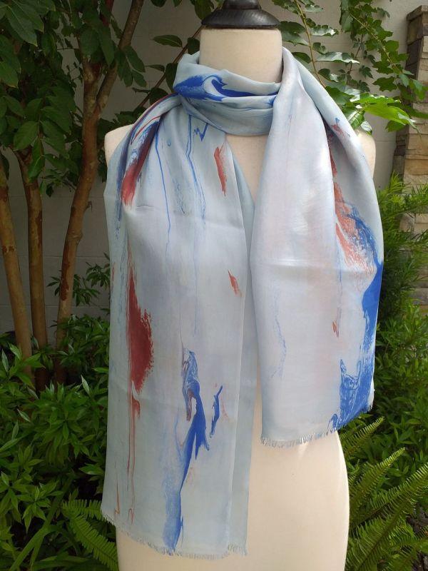 KOD951a 100 Silk Hand Dye Shawl Scarf