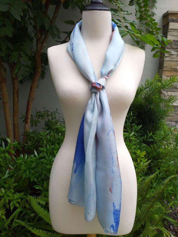 KOD951c 100 Silk Hand Dye Shawl Scarf