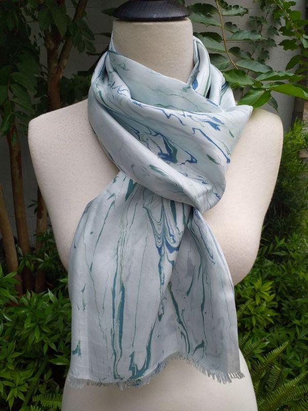KOD953b 100 Silk Hand Dye Shawl Scarf