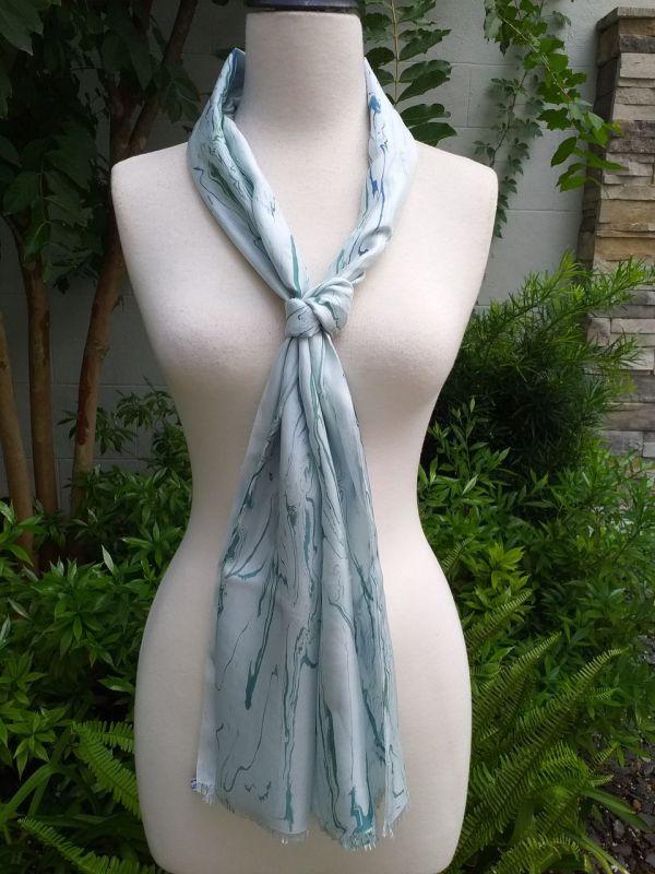 KOD953c 100 Silk Hand Dye Shawl Scarf