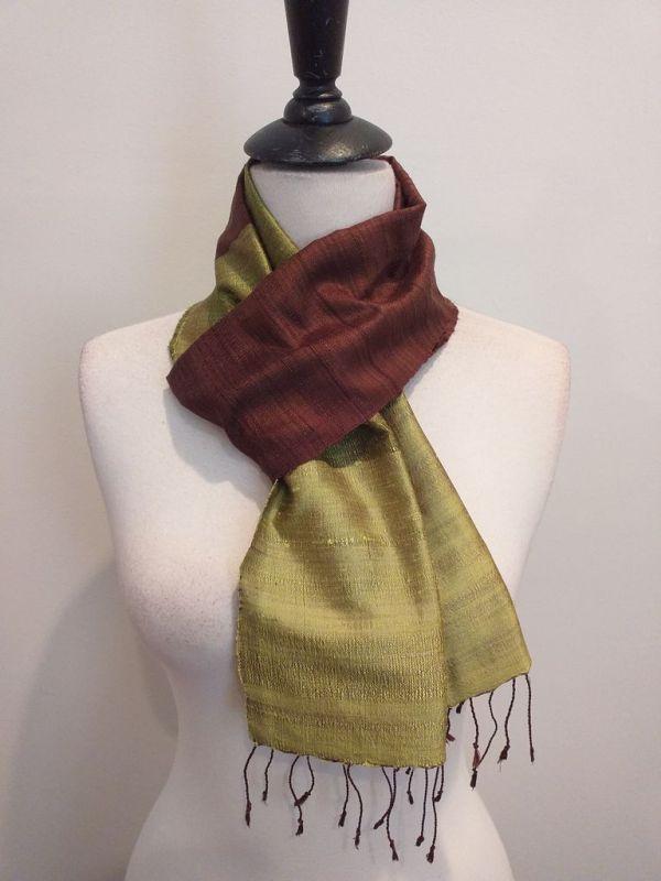 NDC019E SEAsTra Handwoven Silk Scarf