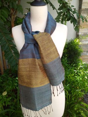 NDC712d Thai Silk Hand Spun Stylish Scarf