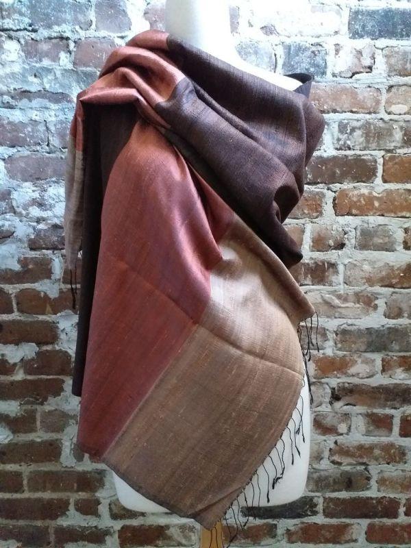 NDS004A SEAsTra 100 Raw Silk Scarf